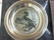 FRANKLIN MINT THE WOOD DUCK SOLID STERLING SILVER LIMITED EDITON PLATE